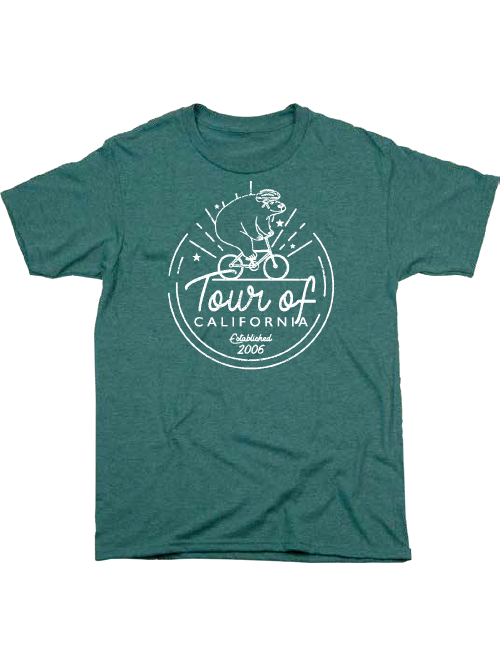 Amgen Tour of California Bike Ride Spruce T-Shirt