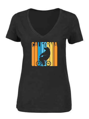 Amgen Tour Of California Women's Retro Cycling Bear T-Shirt