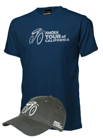 Amgen Tour of California T-Shirt & Cap Combo