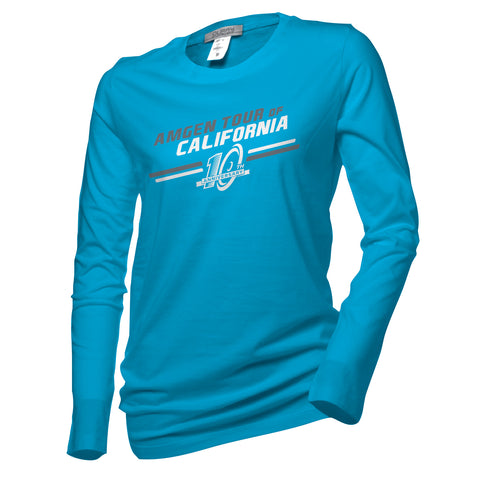 Amgen Tour of California Women's 10th Anniversary Logo Long Sleeve T-Shirt