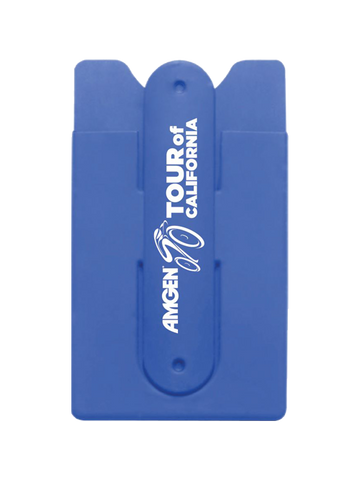 Amgen Tour of California Blue Silicone Card Holder Case