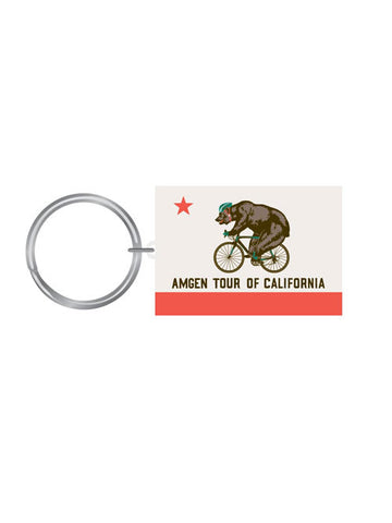 Amgen Tour of California Bear on Bike Keychain
