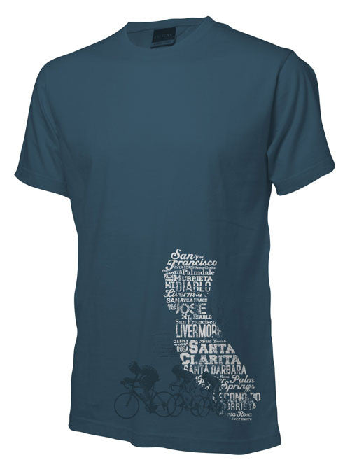 CALIFORNIA STATE & CYCLE TRI-BLEND T-SHIRT