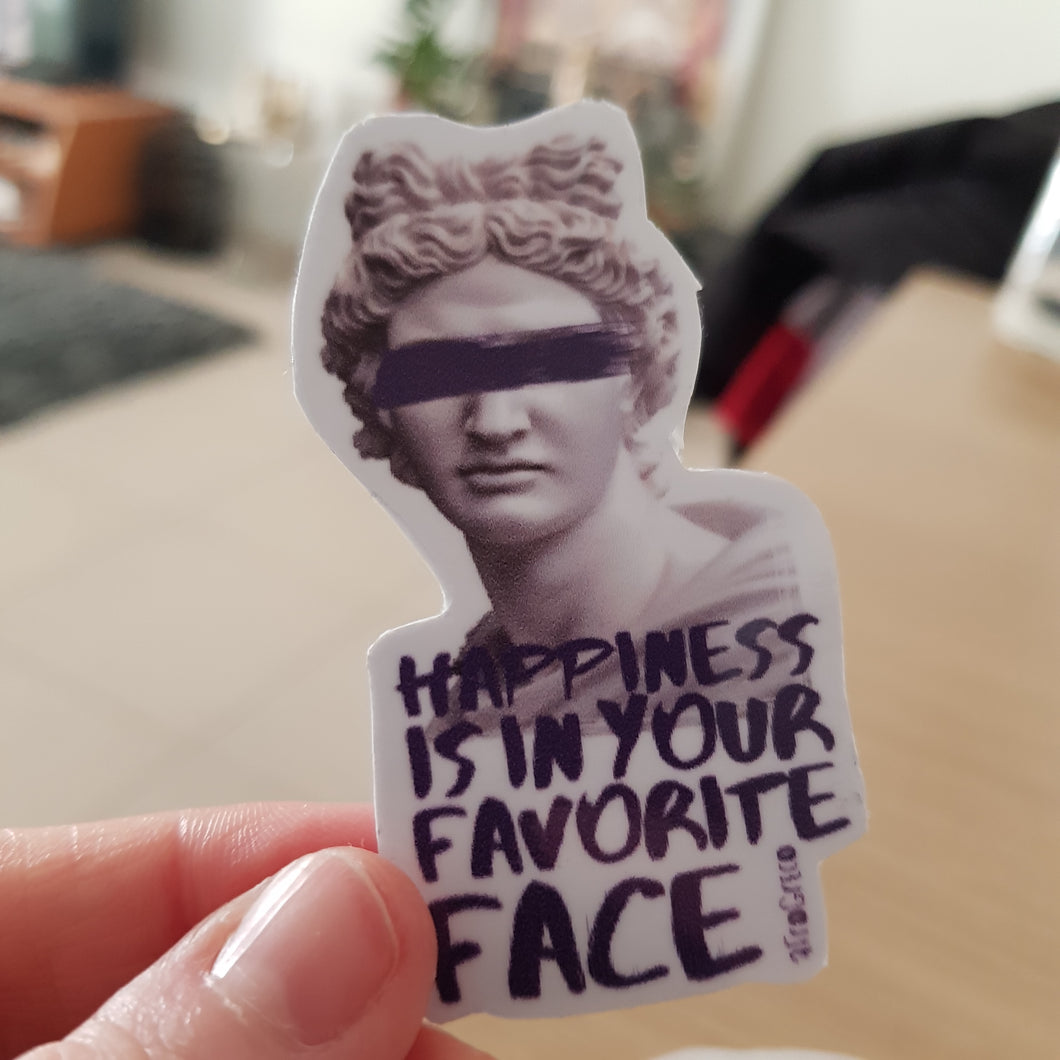 Happiness Statue Sticker