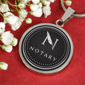 Custom Notary Necklace Pendant
