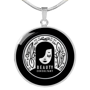 Custom Beauty Care Consultant Pendant Necklaces