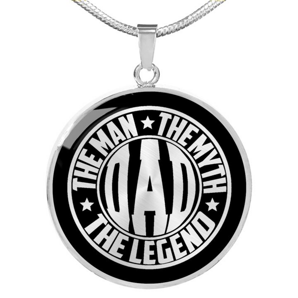 Custom Man Myth Legend Circle Necklaces for Personalized Gifts