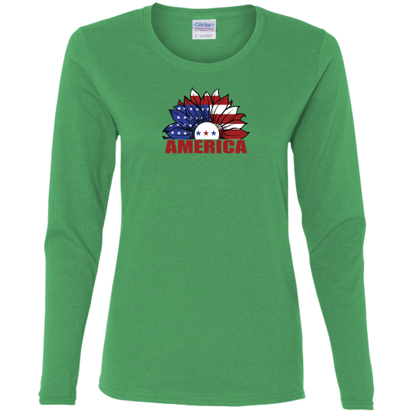 Ladies USA Long Sleeve T-shirts