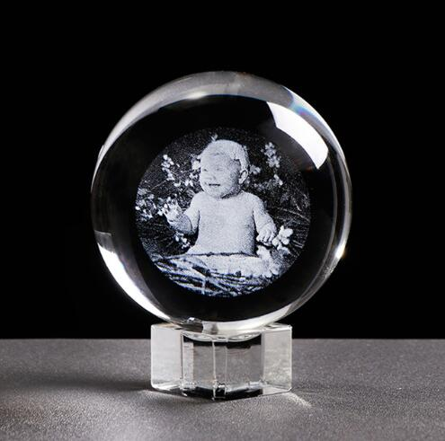 Custom Engraved Glass Ball 80mm