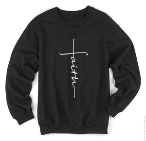 Faith Cross Christian Sweatshirts