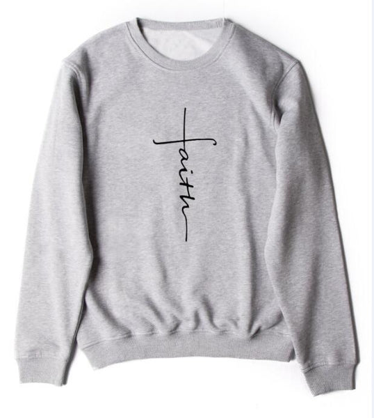 Faith Cross Cotton Sweatshirt
