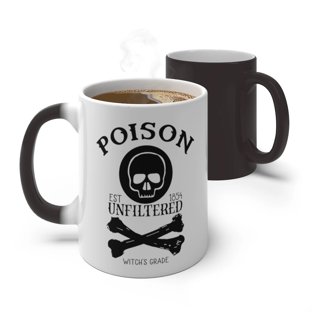 Poison Halloween Color Changing Coffee Mug