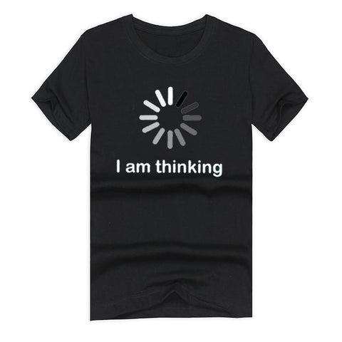 Men's Funny T-shirt I am Thinking Meter