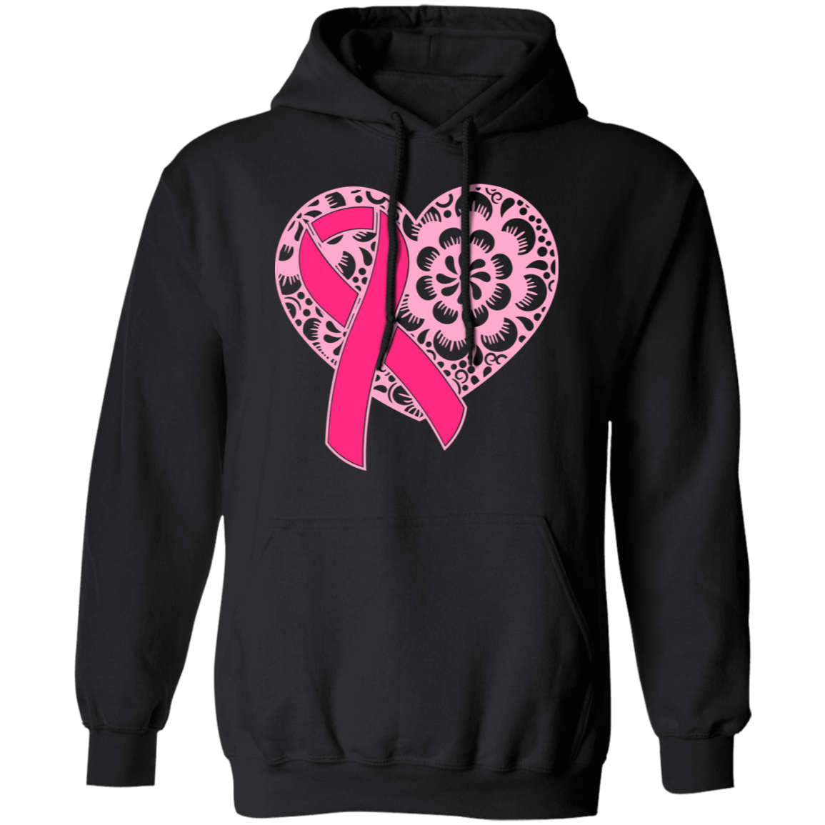 Pink Heart and Ribbon Hoodie