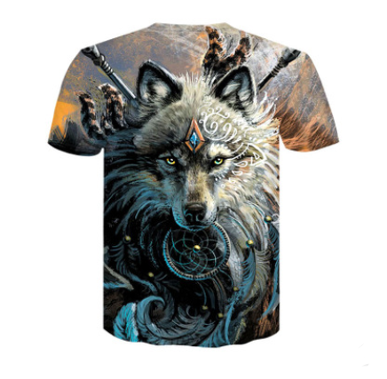 Warrior Wolf Graphic Tees