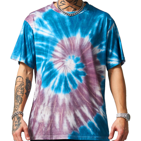 Tie Dye T-shirt Blue and Rust