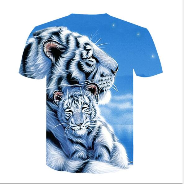 White Tiger 3-D Graphic T-shirt