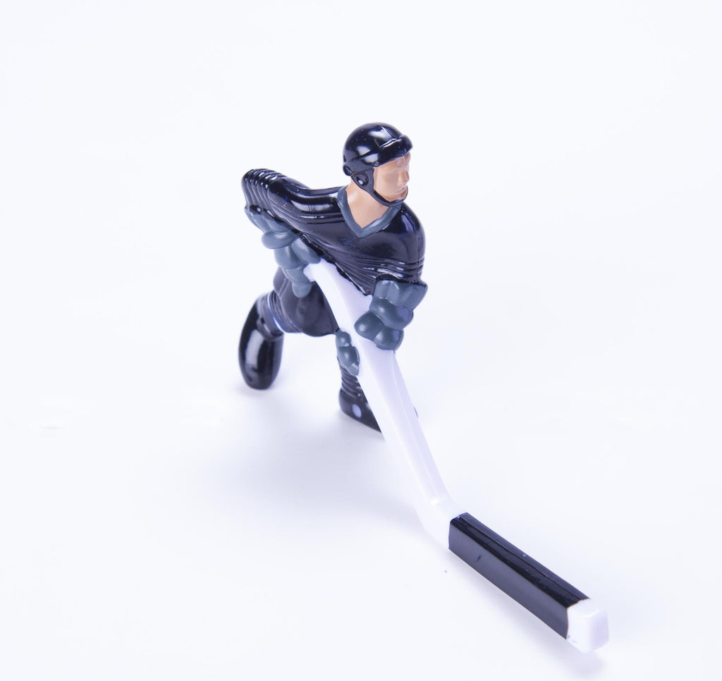 Rod Hockey Player (45mm short stick) with Steel Rod attachment, Blue and Grey (Out of Stock)