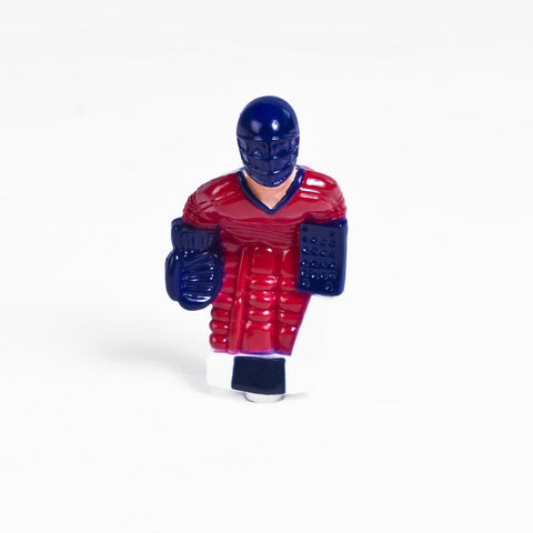 Rod Hockey Goalie with Plastic Rod attachment, Red and Blue