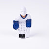 Rod Hockey Goalie with Plastic Rod attachment, White and Blue