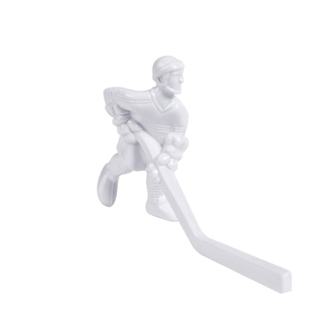 Rod Hockey Player (55mm long stick) with Steel Rod attachment, White