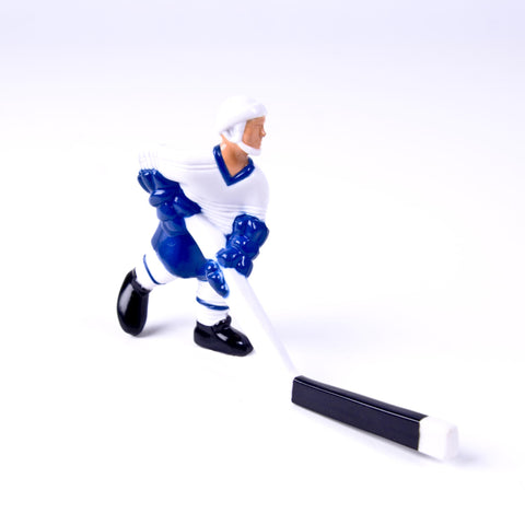 Rod Hockey Player with Plastic Rod attachment, White and Blue