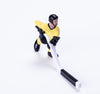 Rod Hockey Player (45mm long stick) with Steel Rod attachment, Yellow and Black (SOLD OUT)