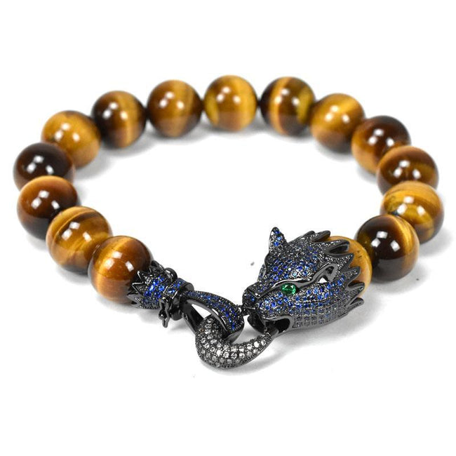 Panthera Elite™ Men's Stone Bead Bracelet