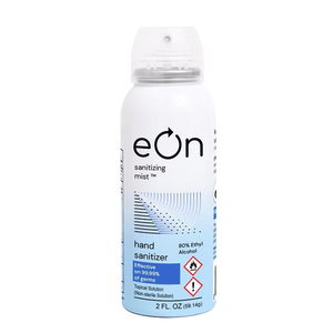 eOn Continuous Spray Hand Sanitizer 80% Ethyl Alcohol - TSA Approved Can