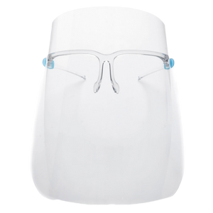 Fully Transparent Protective Face Shield With Clear Glasses Frame