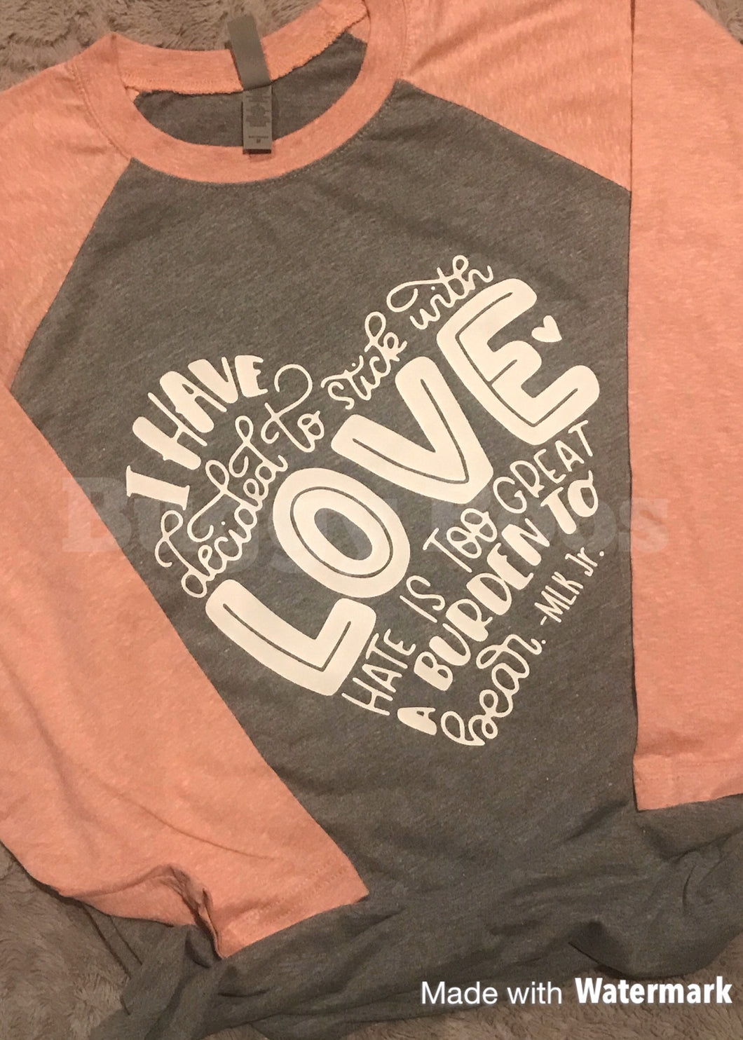 I have decided to love.. raglan shirt, Valentines day shirt, womens, ladies, love, heart, baseball sleeves,love not hate - Buggy Boos Embroidery