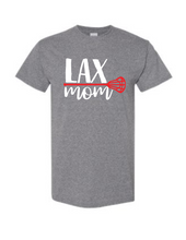 Load image into Gallery viewer, LAX lacrosse mom shirt - Buggy Boos Embroidery