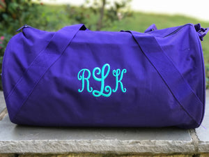 Monogrammed boys and girls duffle personalized - Buggy Boos Embroidery