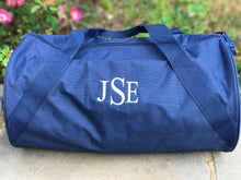 Load image into Gallery viewer, Monogrammed boys and girls duffle personalized - Buggy Boos Embroidery