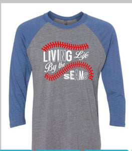 Living by the Seams baseball softball shirt - Buggy Boos Embroidery