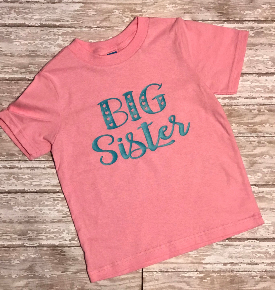Big Sister t shirt - Buggy Boos Embroidery