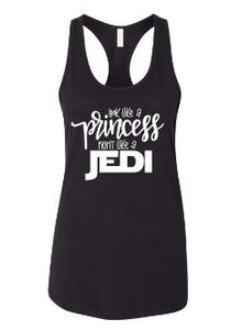 Look like a princess fight like a jedi graphic t shirt - Buggy Boos Embroidery