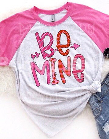 Be Mine Valentine shirt - Buggy Boos Embroidery