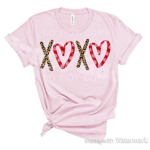 XOXO Love, hugs and kisses, tshirt graphic womens shirt - Buggy Boos Embroidery
