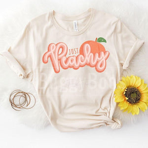 Just Peachy short sleeve - Buggy Boos Embroidery