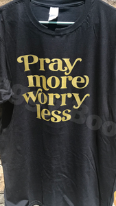 Pray more worry less - Buggy Boos Embroidery