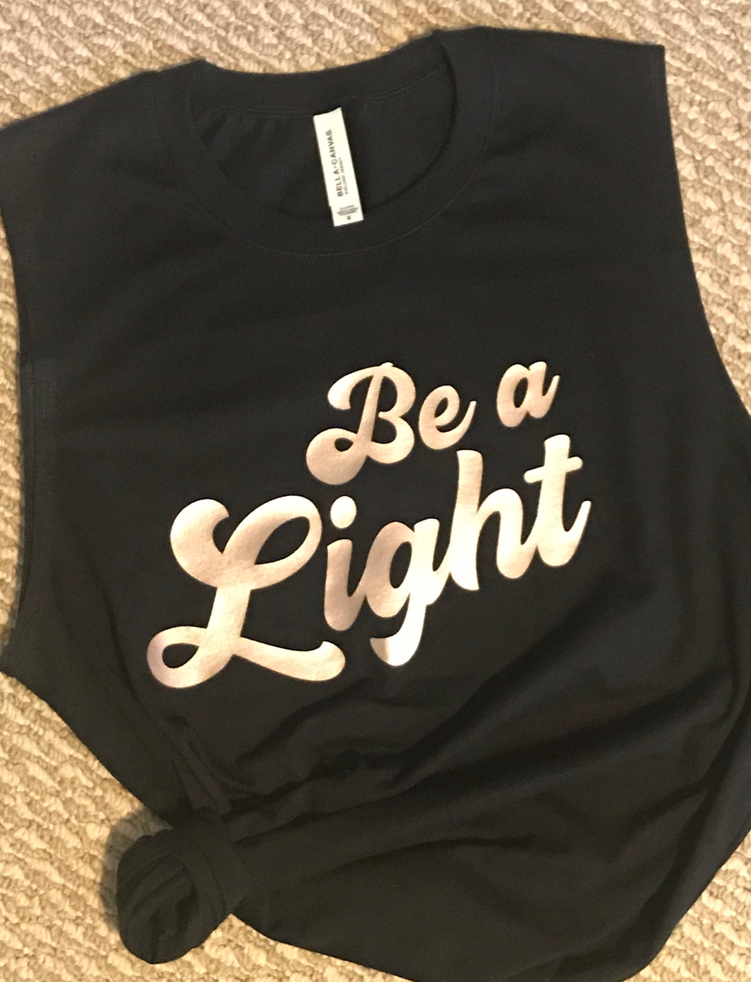 Be A Light muscle tank or short sleeve t - Buggy Boos Embroidery