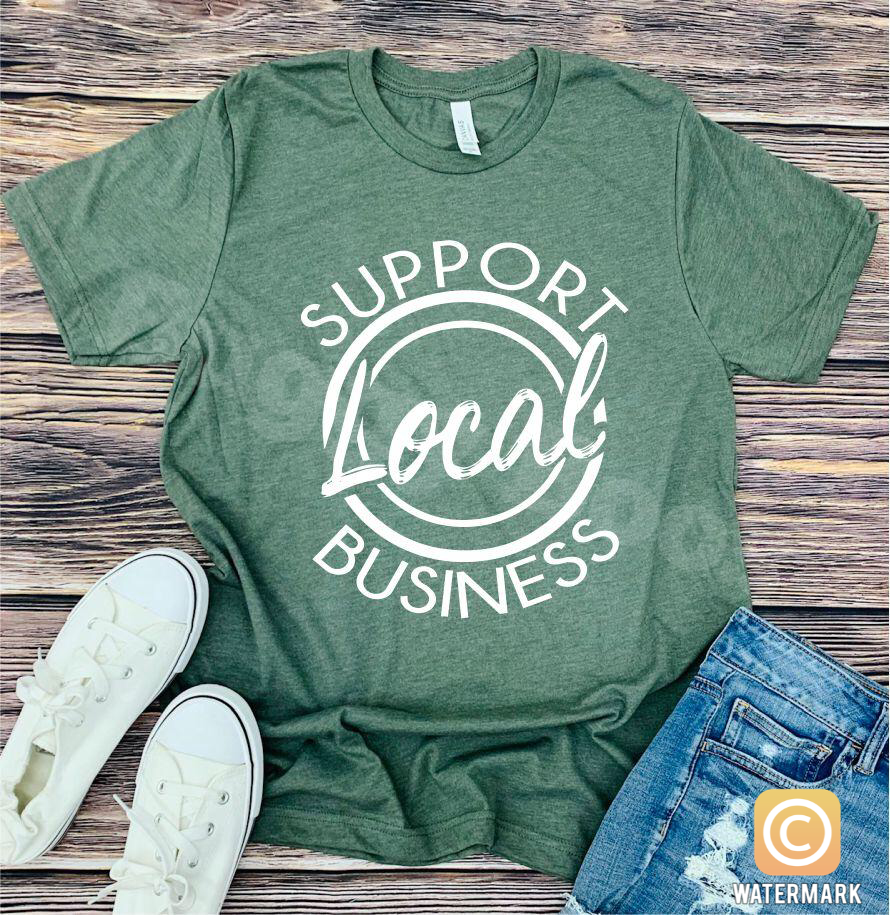 Shop Local T shirt - Buggy Boos Embroidery