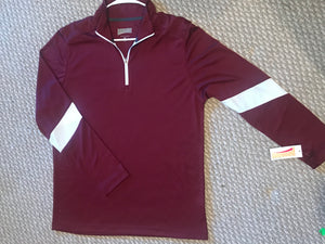 Maroon Pennant 1/4 zip - Buggy Boos Embroidery
