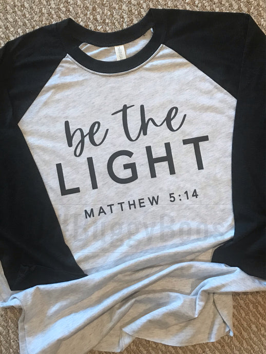 Be the Light Mat5: 14 Raglan - Buggy Boos Embroidery