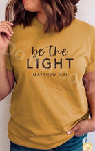 Load image into Gallery viewer, Be the light Matthew 5:14 - Buggy Boos Embroidery