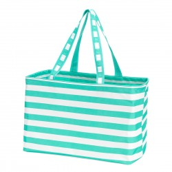 Ultimate tote-mint stripe - Buggy Boos Embroidery