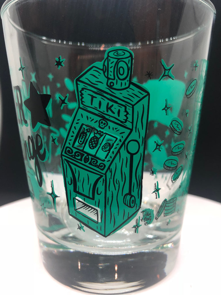 High Roller Tiki Lounge Glass GREEN