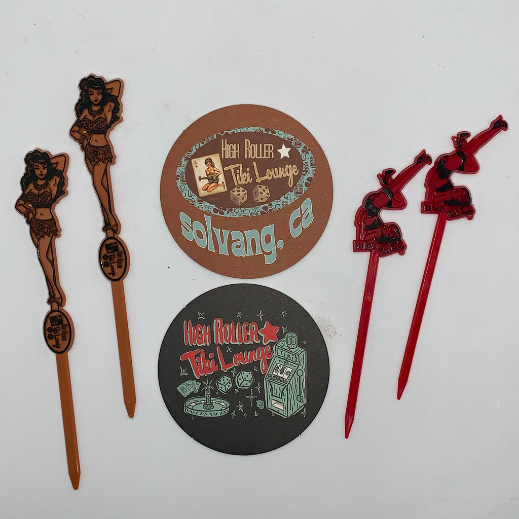Swizzle Stick and Coaster Pack