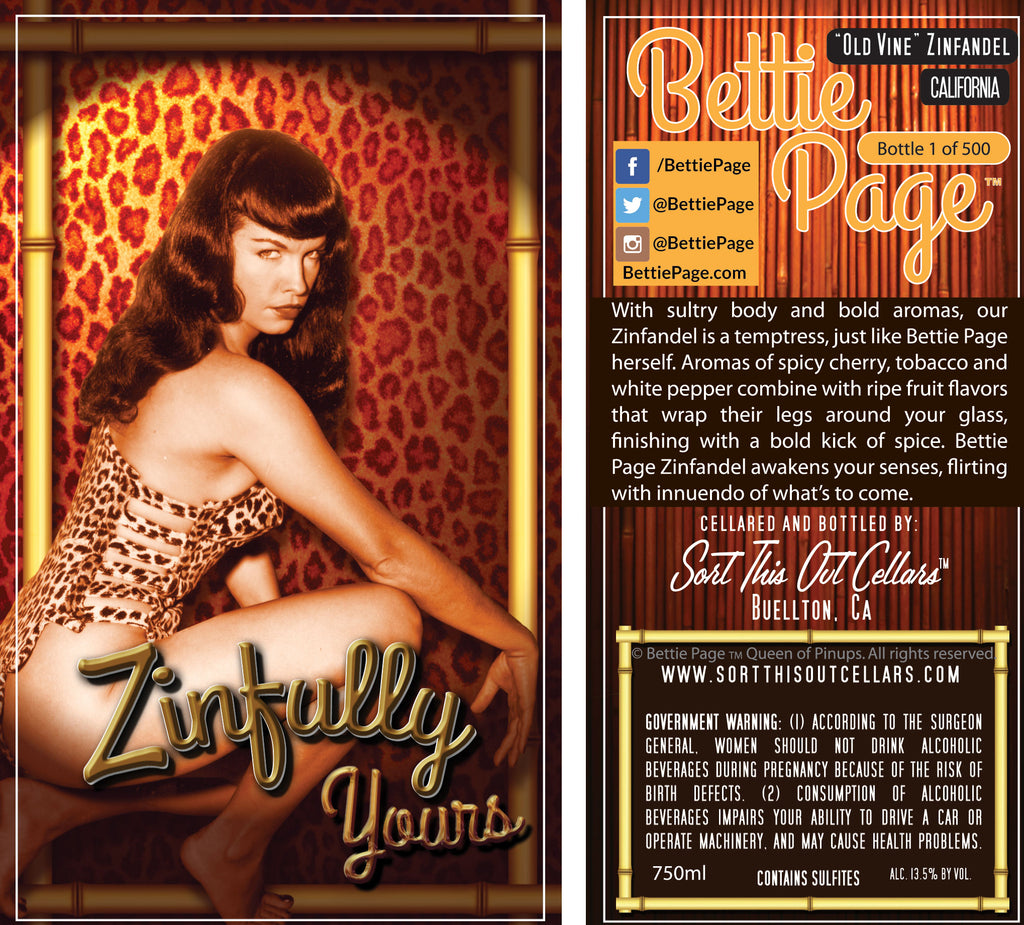 "Bettie Page ""Zinfully Yours"" Zinfandel"